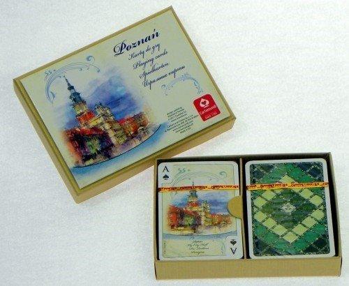 Cartamundi Karty Poznań Akwarele 2 x 55 listków