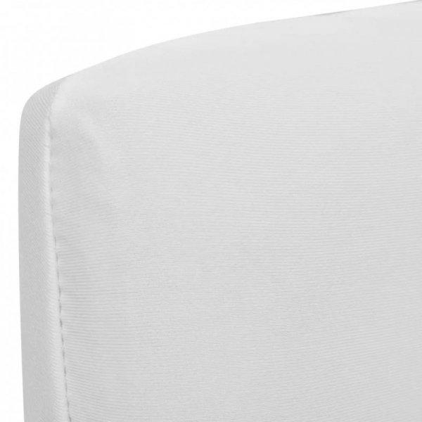 Białe, rozciągliwe pokrowce na krzesła, 6 sztuk