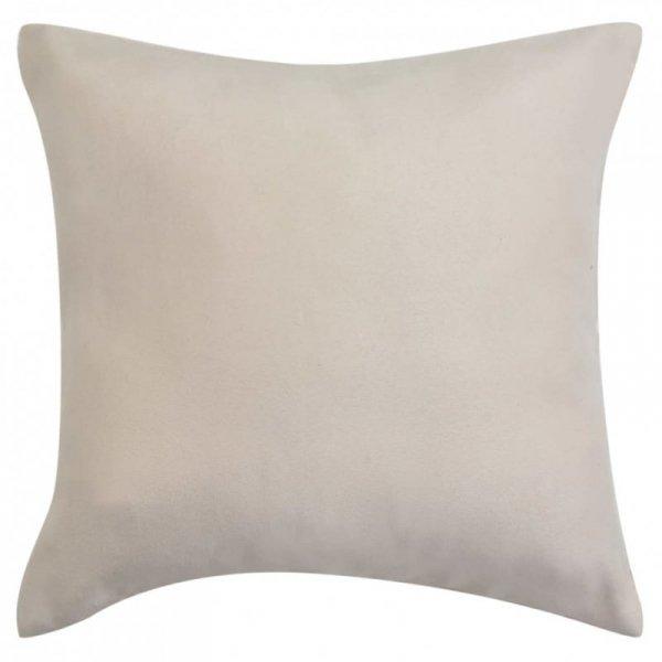 Poszewki na poduszki 40x40 cm, zamszowe, 4 szt., beżowe