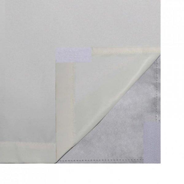 Zasłony zaciemniające, 2 szt, dwuwarstwowe, 140x175 cm, kremowe