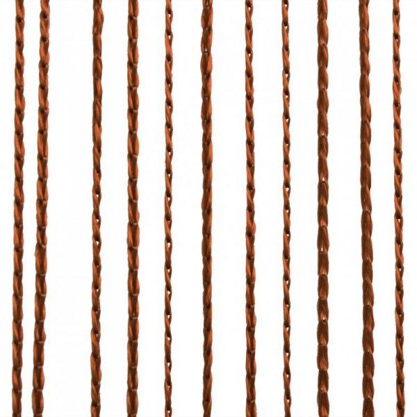 Zasłony sznurkowe, 2 sztuki, 140 x 250 cm, brązowe
