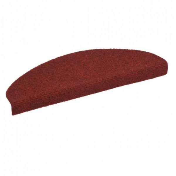 Samoprzylepne nakładki na schody, 15 szt., 65x21x4 cm, czerwone
