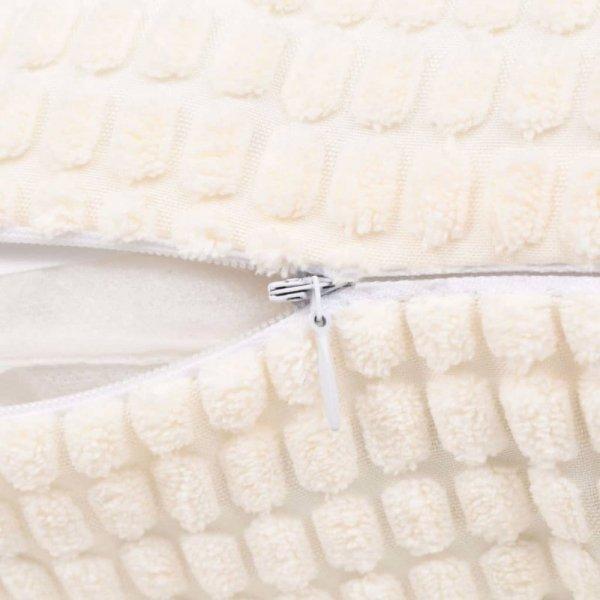 2-częściowy zestaw poduszek, welur, 45x45 cm, złamana biel