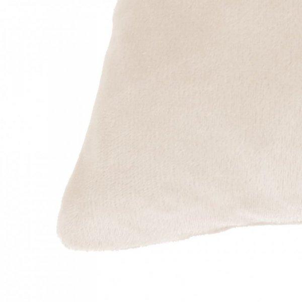 Zestaw 2 poduszek z weluru w kolorze złamanej bieli 40 x 60 cm