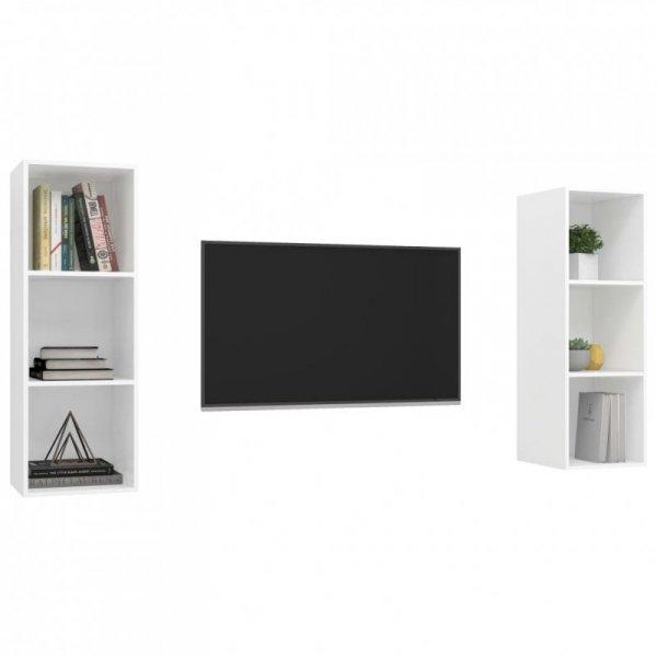 Wiszące szafki TV, 2 szt., białe, płyta wiórowa