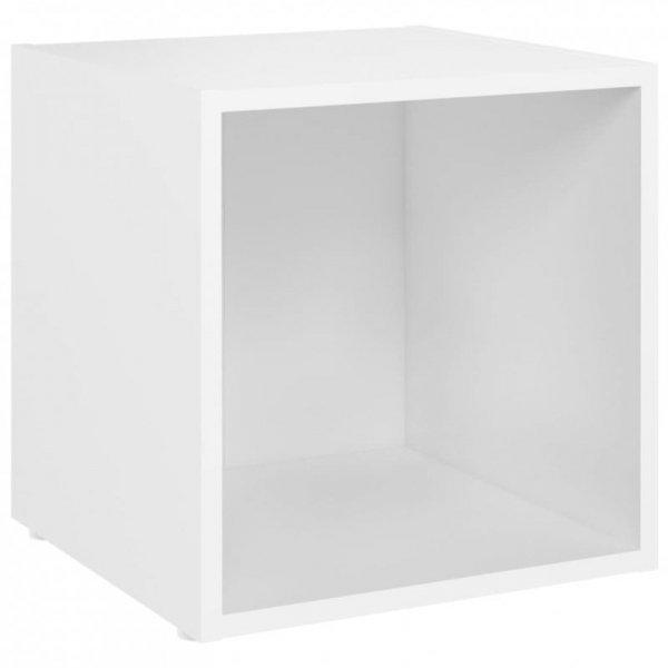 3-cz. zestaw szafek TV, biały, płyta wiórowa