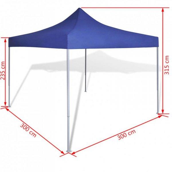 Niebieski, składany namiot, 3 x 3 m