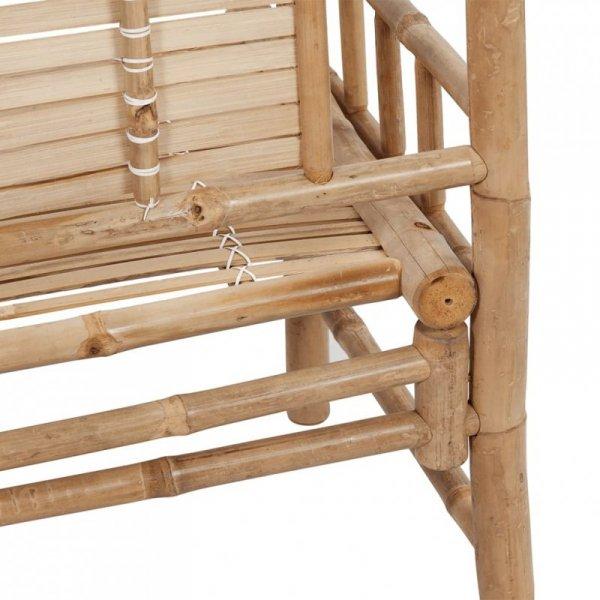 Ławka ogrodowa, 120 cm, bambusowa