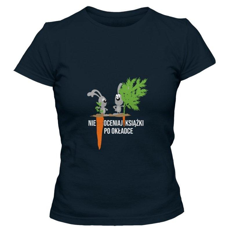 Koszulka damska NIE OCENIAJ KSIĄŻKI PO OKŁADCE