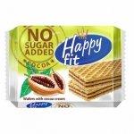 Wafelki kakaowe bez dodatku cukru Happy Fit, 95g