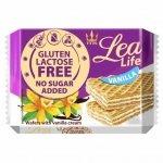 Wafle waniliowe bez glutenu, laktozy i bez dodatku cukru Lea Life, 95g