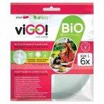 Biodegradowalne talerze z trzciny cukrowej rozmiar L viGO!, 6 sztuk