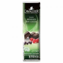 Baton z deserowej czekolady z owocami leśnymi Cavalier, 40g
