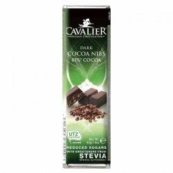 Baton z deserowej czekolady z palonymi ziarnami kakaowca Cavalier, 40g