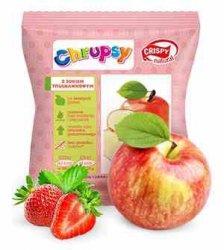Chipsy z jabłka z sokiem truskawkowym Crispy Natural, 18g