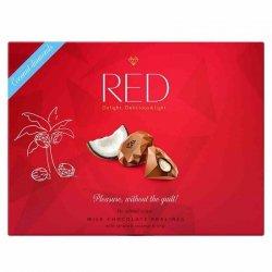 Praliny z mlecznej czekolady z nadzieniem kokosowym 50% mniej kalorii RED Delight, 132g