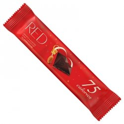 Baton z ciemnej czekolady z migdałami i skórką z pomarańczy bez dodatku cukru, tylko 75 kalorii RED Delight, 26g