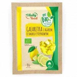 Galaretka z agarem - cytrynowa Vitally Food BIO, 38g