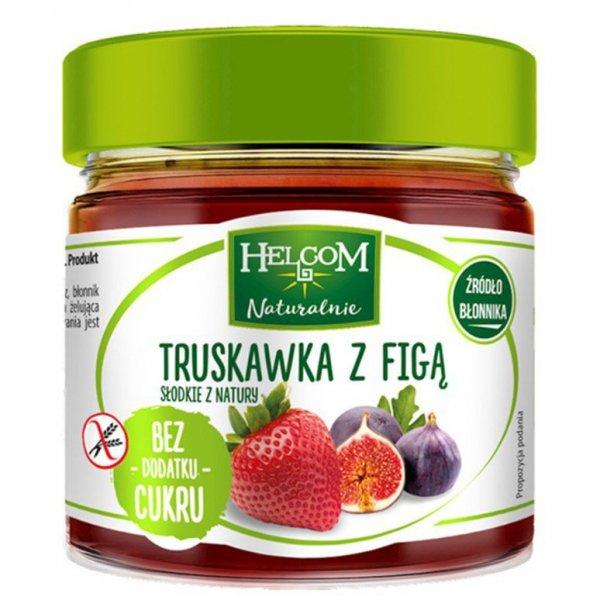 Pasta owocowa Truskawka z figą bez dodatku cukru Helcom, 200g