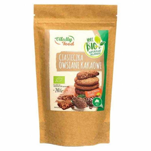 Mieszanka na ciasteczka owsiane kakaowe bez dodatku cukru Vitally Food BIO, 240g