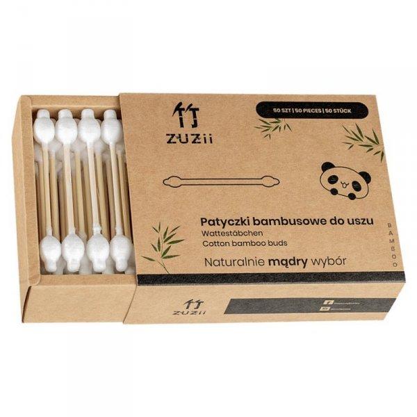 Bambusowe patyczki kosmetyczne do uszu dla dzieci i niemowląt Zuzii, 50 sztuk