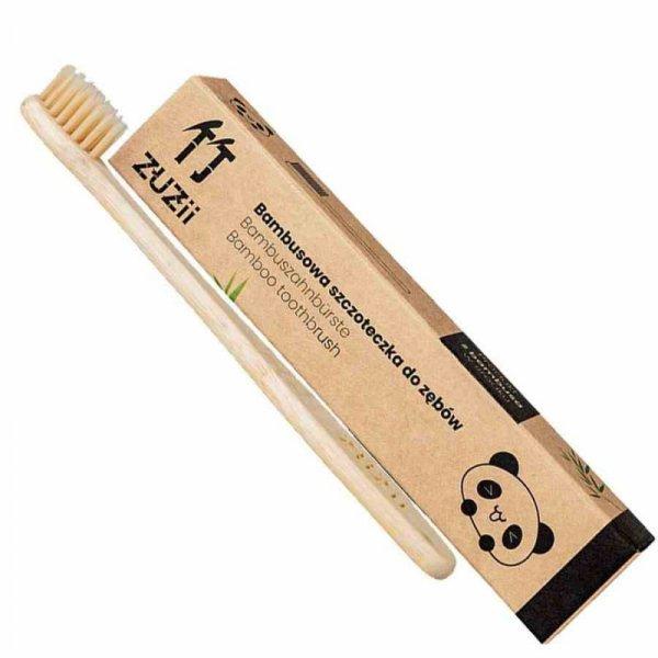 Bambusowa szczoteczka do zębów dla dzieci beżowa Zuzii