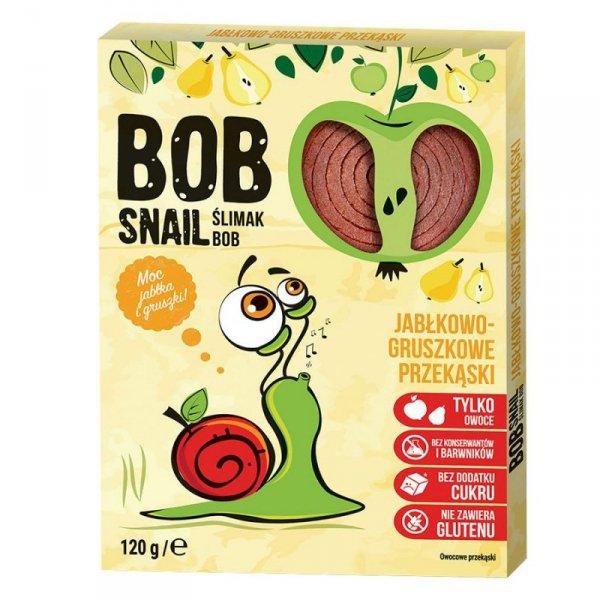 Przekąska jabłkowo-gruszkowa z owoców bez dodatku cukru Bob Snail, 120g