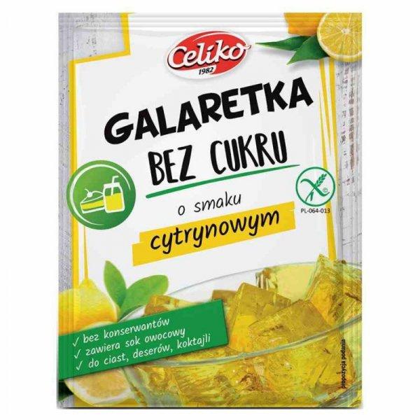 Galaretka bez cukru cytrynowa bez glutenu Celiko, 14g