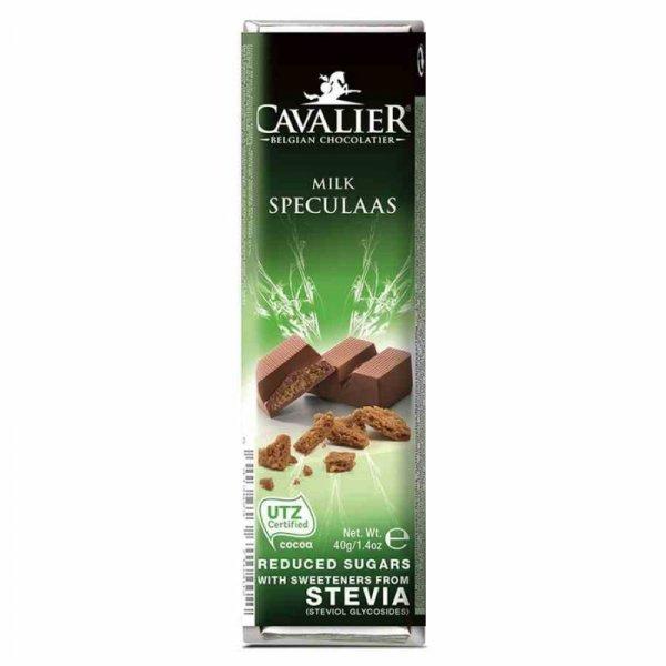 Baton z mlecznej czekolady z nadzieniem o smaku korzennym Cavalier, 40g