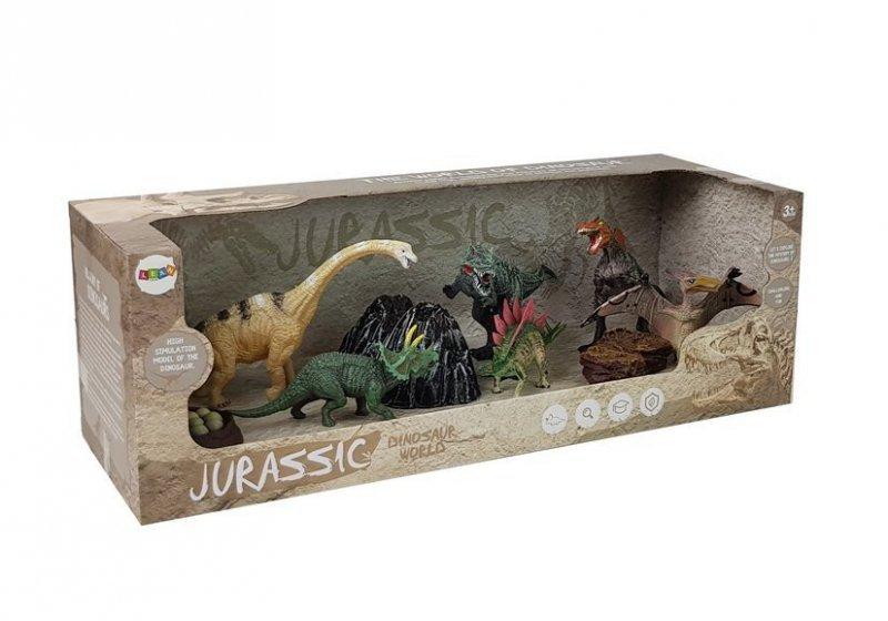 Dinozaury Duży  Zestaw Figurek  7 sztuk z Akcesoriami