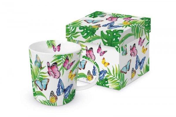 Kubek w pudełku Tropikalne Motyle 350ml