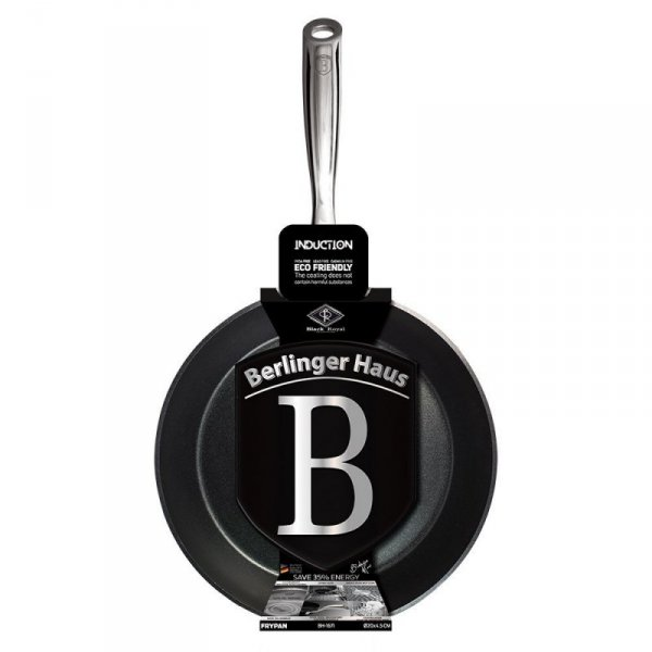 PATELNIA TYTANOWA BERLINGER HAUS 20cm BH-1671 BLACK ROYAL