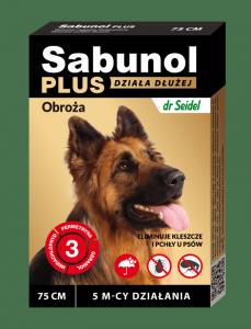 SABUNOL PLUS obroża przeciw pchłom i kleszczom dla psa 75 cm