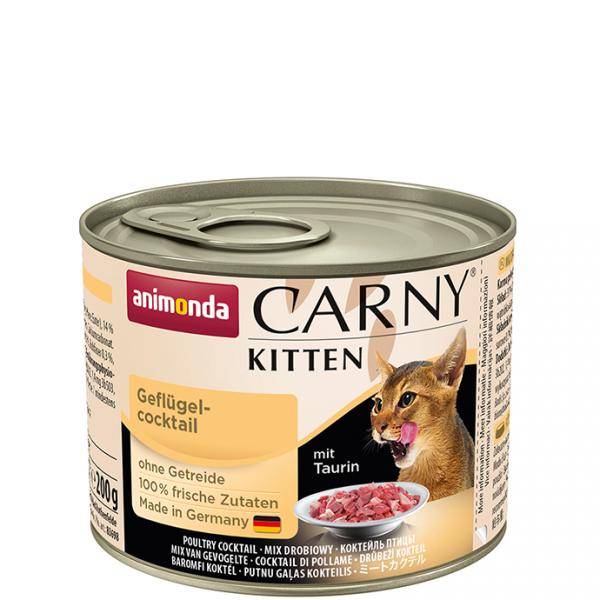 ANIMONDA Carny Kitten puszka mieszanka mięs drobiowych 200 g