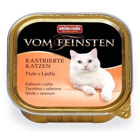 ANIMONDA Vom Feinsten for Castrated Cats szalka z indykiem i łososiem 100 g