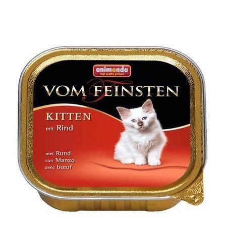 ANIMONDA Vom Feinsten Kitten szalka z wołowiną 100 g
