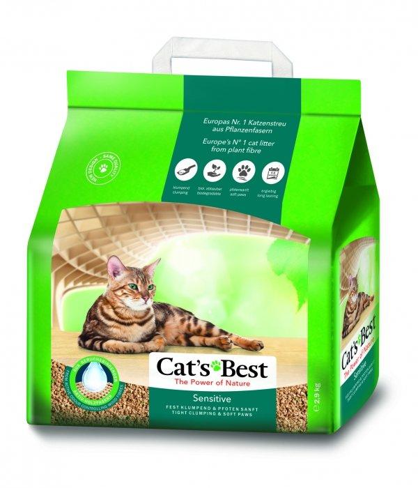 CAT'S BEST Sensitive 8l, 2,9 kg compact z blokerami zapachów