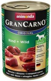 ANIMONDA GranCarno Orginal Adult puszki wołowina dziczyzna 400 g