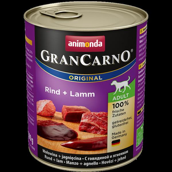 ANIMONDA GranCarno Orginal Adult puszki wołowina jagnięcina 800 g