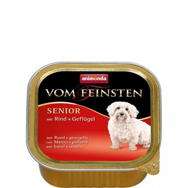 ANIMONDA Vom Feinsten Senior szalki z wołowiną i drobiem 150 g