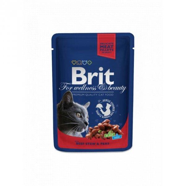 BRIT POUCHES BEEF STEW & PEAS 100 g