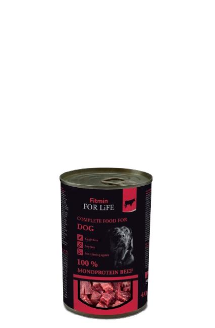FITMIN FFL dog konserwa beef 400g
