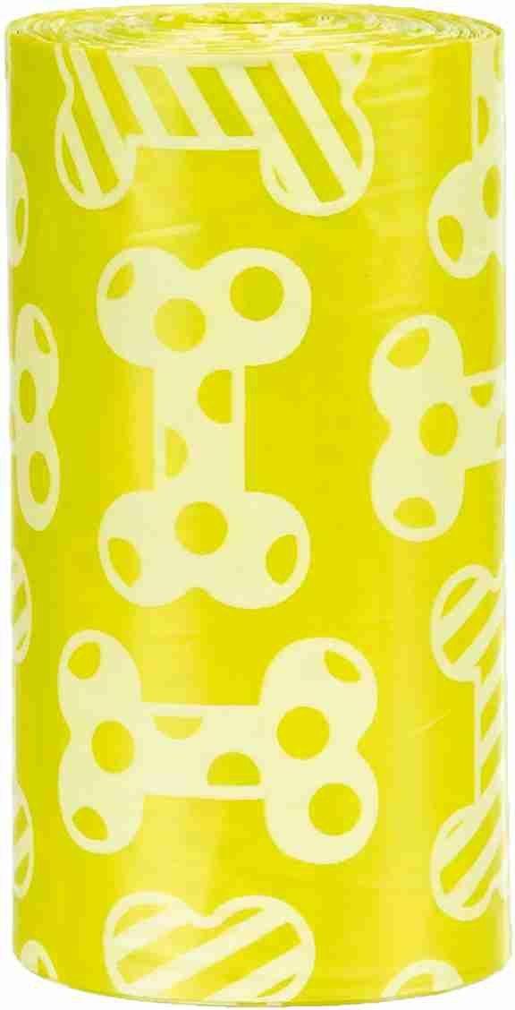 TRIXIE Woreczki na odchody o zapachu cytrynowym, M,20szt x 4 rolki/op żółte [TX-23473]