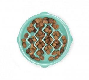 FUN FEEDER Miska plastikowa spowalniająca jedzenie XS miętowa [67829]