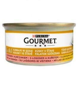 GOURMET GOLD - łosoś i kurczak 85g