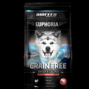 BIOFEED Euphoria Junior Dog GRAIN FREE - Turkey&Salmon 300g