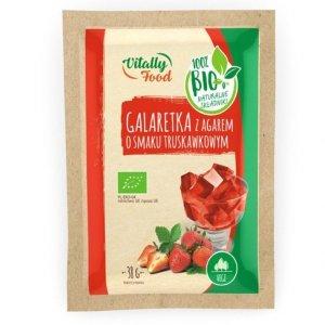 Galaretka z agarem - truskawkowa Vitally Food BIO, 38g