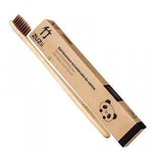 Bambusowa szczoteczka do zębów dla dorosłych brązowa Zuzii