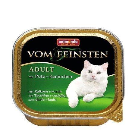 ANIMONDA Vom Feinsten Adult szalka z indykiem i królikiem 100 g