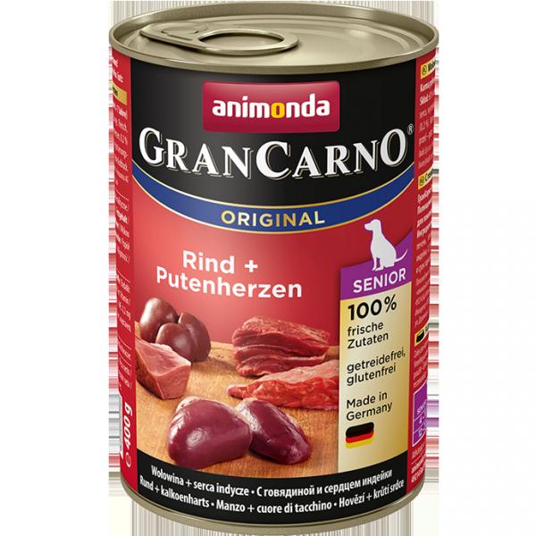 ANIMONDA GranCarno Orginal Senior puszki wołowina serca indycze 400 g